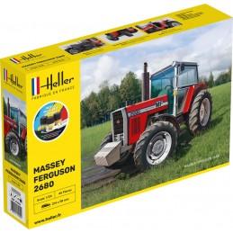 Tracteur Massey-Ferguson 2680 1/24 Heller + colle et peintures 57402
