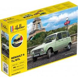 Renault 4L 1/24 Heller + colle et peintures 56759