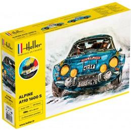 Alpine A110 1600 S 1/24 Heller + colle et peintures 56745