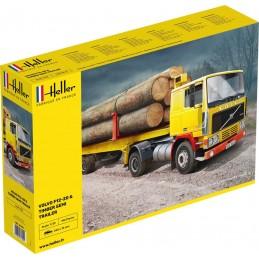 Volvo F12-20 Globetrotter & semi-remorque grumes de bois 1/32 Heller 81704
