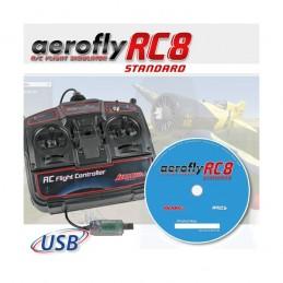 Simulateur Aerofly RC8 standard + Télécommande USB Ikarus IK3031050