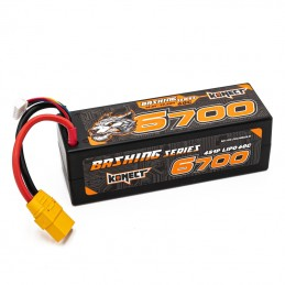 Li-Po 6700mAh 60C 4S 14.8V coqué (XT90) Bashing Konect KN-LP4S6700BASH-XT