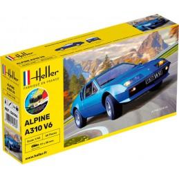 Alpine A310 V6 1/43 Heller + colle et peintures 56146