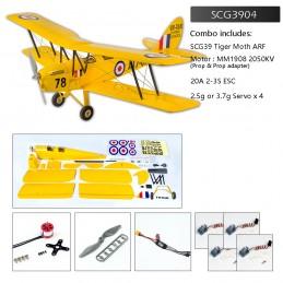 Tiger Moth 800m S39 Kit ARF PNP balsa DW Hobby SCG3904