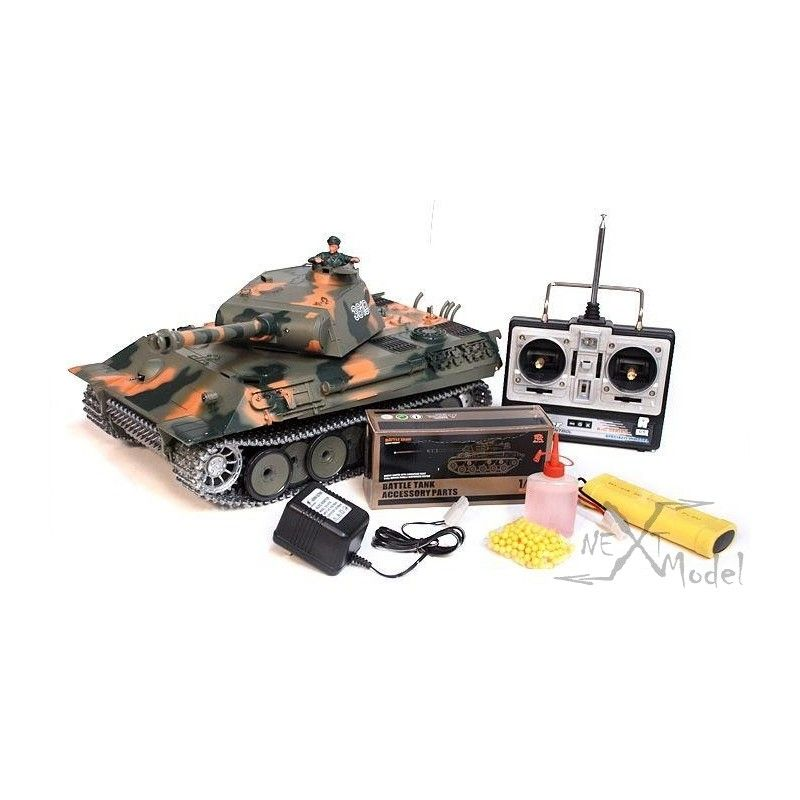 char d 39 assault 1 16 german panther bruit fum e rtr. Black Bedroom Furniture Sets. Home Design Ideas