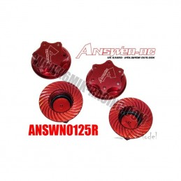 Wheel nuts 1.25 mm red Answer borgne