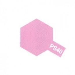 Bombe Lexan rose translucide PS-40 Tamiya