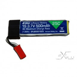 Lipo120SR - 500mAh 1-Cell 3.7V 12 c E-flite batteries