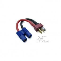 Prise EC3 femelle avec connecteur deans  14awg 10cm