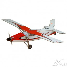 Turbo Pilatus porter PC - 6 Para Centro 3D-Model Siva