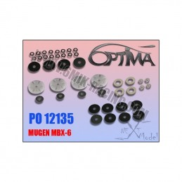 Pistons valves c2shocks for Mugen MBX6 - 6Mik
