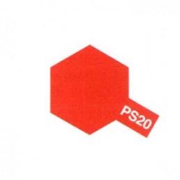 Bombe Lexan rouge fluo PS-20 Tamiya