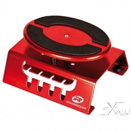 Red aluminum stand for car 1/8 Robitronic