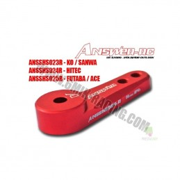 Rudder servo lockable alu red Futaba
