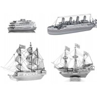 Model boats Metal Earth kits to mount